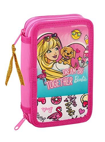 Barbie Celebration offizielle Schüleretui inklusive 28 nützlichen Utensilien, 125 x 40 x 195 mm