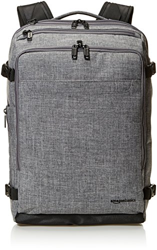 AmazonBasics Slim Carry On Travel Backpack, Grey - Weekender