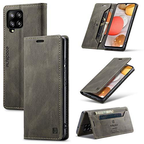 Funda protectora, Caja de cuero suave de cuero suave multifunción para Samsung Galaxy A42 (5G), 2 en 1 Funda de tapa de la billetera magnética de 2 en 1, caja de cubierta inferior TPU con ranura para
