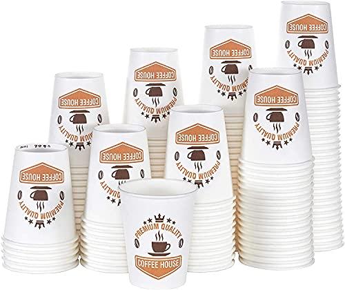Caramont,400 Vasos Carton Desechables para Café Espresso de 4 onzas 110 ml , Ecológicos y Desechables, Resistentes al Calor