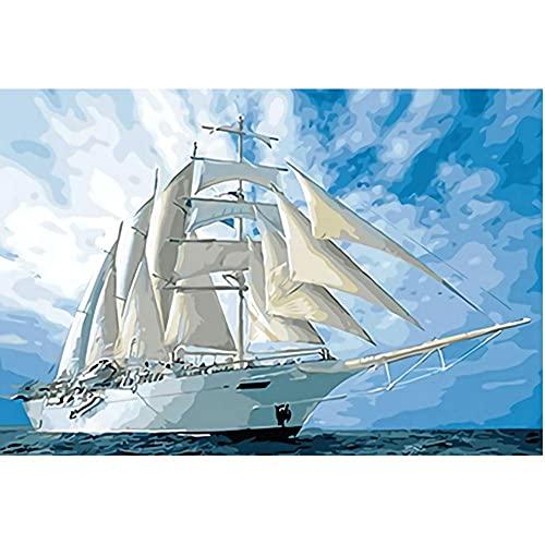 Rompecabezas de Madera Puzzle de 1000 Piezas Juego de Diversión Familiar para Regalo Decoración Hogar Juguetes de Rompecabezas para Niños Niñas(75x50 cm) Barco