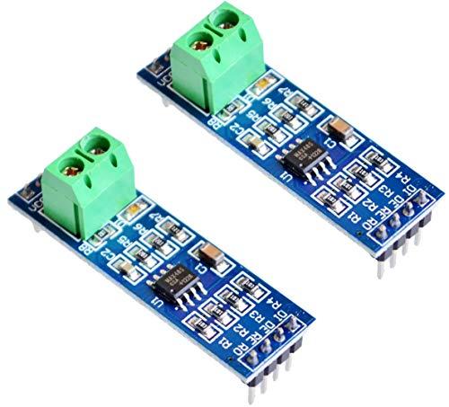TECNOIOT x2pcs MAX485 Module RS-485 TTL to RS485 MAX485CSA Converter Module