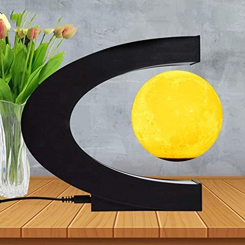 GYLEJWH Lámpara magnética flotante en forma de C de 7,6 cm, con luz LED para enseñanzas, decoración de escritorio, color Light