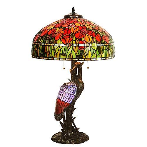 ChangHua1 LED Tulip Crane Crane Lámpara De Mesa Living Room Home Decoration Table Lamp