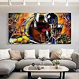 Estilo nórdico 70x140 cm sin marco noche nórdica mosaico copa de vino vela pintura abstracta imagen sala de estar decoración arte de la pared impresión