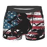 American Stars and Stripes Cycling Race - Calzoncillos tipo bóxer para hombre con bolsa de ballpark integrada