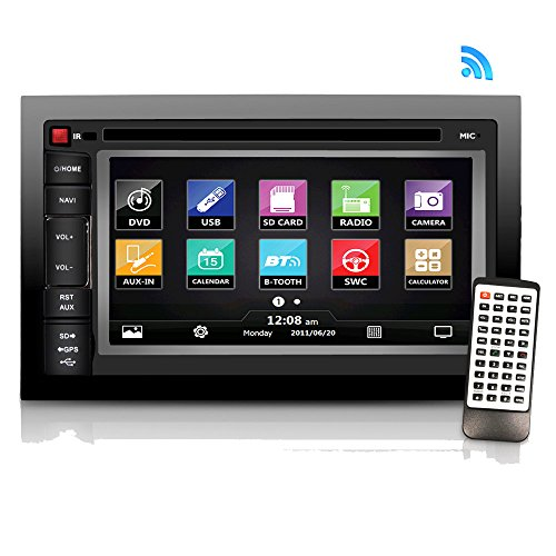 "Premium Pyle 6.5""-Inch Double-DIN - Car Stereo Receiver with Bluetooth, Dash Touchscreen Screen, TFT/LCD Monitor, CD/DVD Player, Disc /MP3/MP4/USB /SD/AM/FM (NO Navigation Disc Included) (PLDNV66B)"