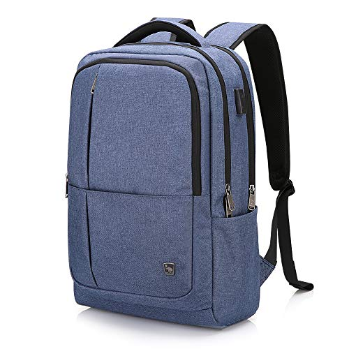 Oiwas Nylon Business Backpack with Large Full Separate Mult-compartment for 17 Inch Laptop Notebook...