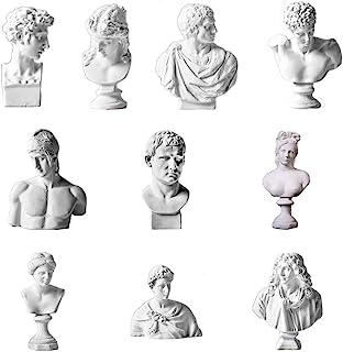 Set of 10 Mini  Greek Bust Figurine Statues Mythology Decor Sculptures Greece