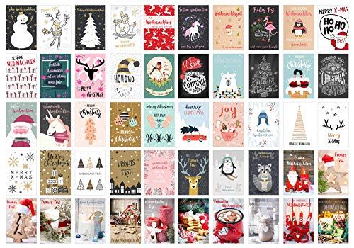 Edition Seidel Set 50 Weihnachtspostkarten Weihnachten Karten Postkarten Weihnachtskarten