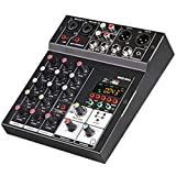 4 canali audio dj sound mixer mixing console karaoke con usb bluetooth alimentato da bus usb e caricabatterie mobile per home studio