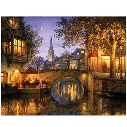 Schilderij Kleurplaten door cijfers Pictures Home Decor Canvas Schilderij door cijfers Decoraties 40x50cm Geen Frame