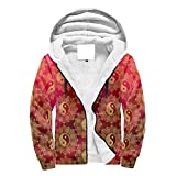 BTJC88 Mens cremallera frontal Super caliente sudaderas forrada hombres/mujeres yinyan impresos originales - yinyan algodón con capucha suave blusa deportiva blanca 3xl