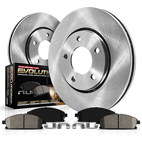 Power Stop KOE5334 Autospecialty By Power Stop 1-Click Daily Driver Brake Kits Front Incl. 12.6 in. OE Replacement Rotors w/Z16 Ceramic Scorched Brake Pads Autospecialty By Power Stop 1-Click Daily Driver Brake Kits