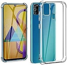جراب Galaxy M30S، جراب للرياح مقوى بزوايا من مادة TPU غطاء شفاف مضاد للصدمات لهاتف Samsung Galaxy M30S