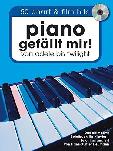 Piano gefällt mir! 50 Chart und Film Hits (Book & mp3 CD): Songbook, CD für Klavier: Von Adele bis Twilight. Das ultimative Spielbuch für Klavier - arrangiert von Hans-Günter Heumann.