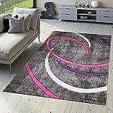 alfombra lila pelo corto