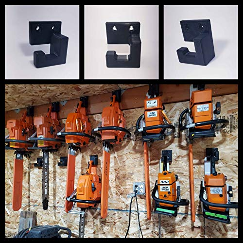Generic Low Profile Chainsaw Wall Hanger/Mount Black