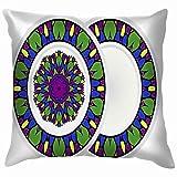 Set Design Mandala Ornament Round Frame Arab Throw Almohadas Covers Accent Home Sofa Funda de cojín Almohadacase Gift Decorative 24