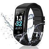 DUODUOGO Smartwatch Reloj Resistente Baratos Mujer Hombre Niños Impermeable IP67 Pulsera Deportiva Monitor con Pulsómetros,Reloj Inteligente Buenos 0.96'para iOS Android