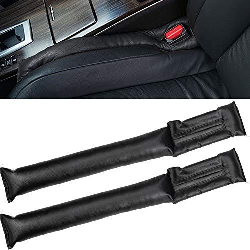 ZHENA 2Pcs Autositz Lückenfüller Universal Lückenkissen Leder, Autositz Gap Stopper, Auto Innenraum Zubehör für Mercedes BMW Volvo Audi die meisten Autos