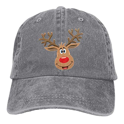 rtyrtyrty Unisex 100% Cotton Fashion Breathable Outdoor Baseball Cap Christmas Reindeer Anti-Ultraviolet, Anti-dust, Adjustable and Washable Cowboy hat