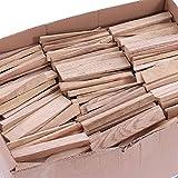 30 kg de leña de encendido, leña, leña, leña, estufa, barbacoa, ahumador, parrilla, lista para horno, roble 16 cm