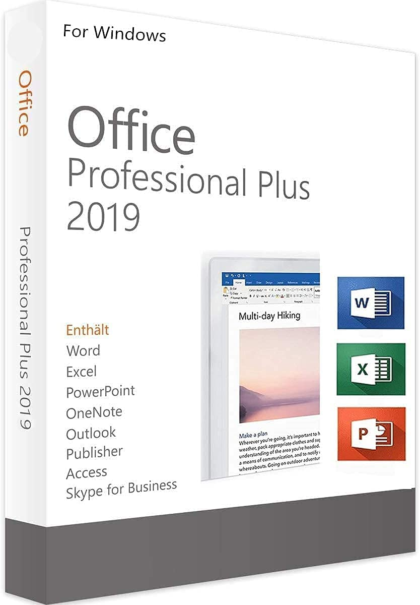 Office Professional 2019 1 PC version with Lifetime Key