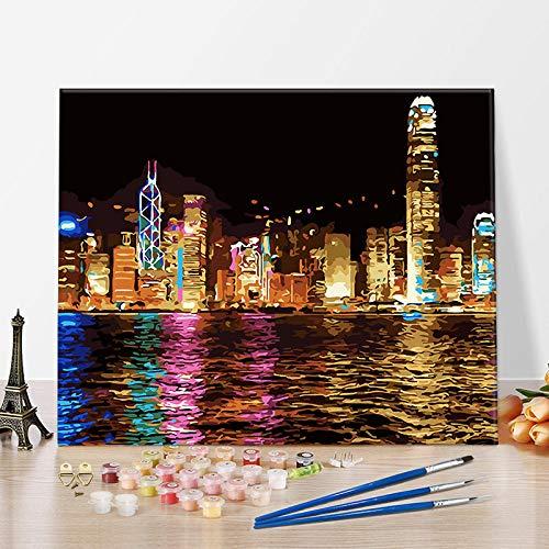 ZINSALE DIY Digitale Ölgemälde, dekorative Dekompression für Erwachsene Dekompression, Färbung Dekompression Ölgemälde, Freizeit Dekompression