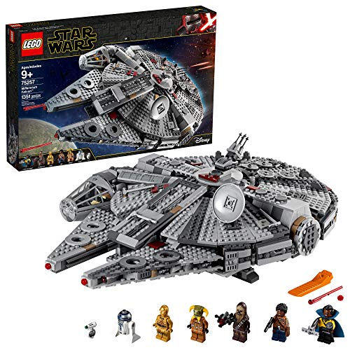 LEGO Star Wars: The Rise of Skywalker Millennium Falcon 75257 Starship Model Building Kit and Minifigures (1,351 Pieces)