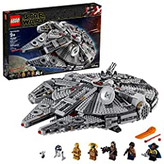 Inspire fans with a true icon of the LEGO Star Wars universe – the Millennium Falcon! This model starship building set is perfect addition to any Star Wars collection. Set the scene for epic adventures with 7 LEGO Star Wars characters action figures:...