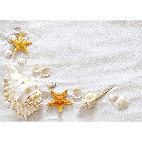 Playa Arena Estrella de mar Concha Concha Fotografía Fondos Tela Telón de Fondo Estudio fotográfico para niños Baby Shower Fotófono A13 10x7ft / 3x2.2m