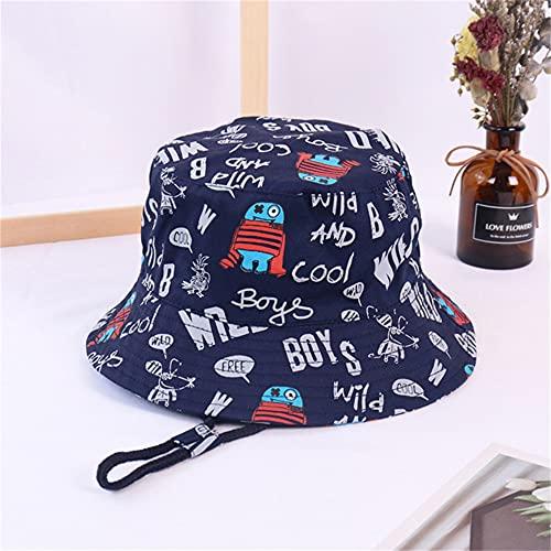 Spring Autumn Thin Cartoon Dinosaur Print Baby Bucket Hat Cotton Fisherman Hats Kids Summer Toddler Boys Girls Sun Cap-a3