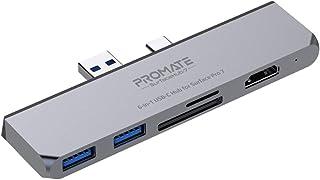 موزع بروميت USB-C لـ Microsoft Surface Pro 7، قاعدة قاعدة شحن فائقة 6 في 1 مع محول HDMI 4K وفتحات لبطاقة SD/TF ومنفذ USB م...