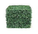 WBTY Paneles de setos Artificiales, 40 x 60 cm, para Plantas de césped Artificiales, Valla para decoración del hogar, jardín, protección UV, follaje sintético Fresco, decoración de Pared