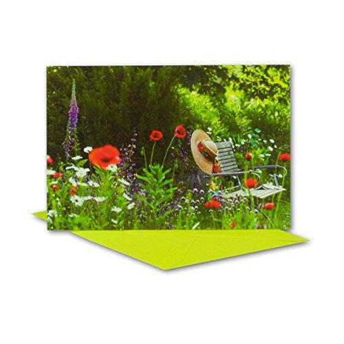 Lot de cartes de vœux avec enveloppe en métal violet I B6 17,0 x 11,5 cm I pour toutes les occasions I si la naissance ou un mariage DIN B6 vert