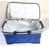 Bolso Térmico para Camping,Paquete de comida rápida para llevar paquete de aislamiento de picnic cesta de compras plegable-M, Take Away Alimentos
