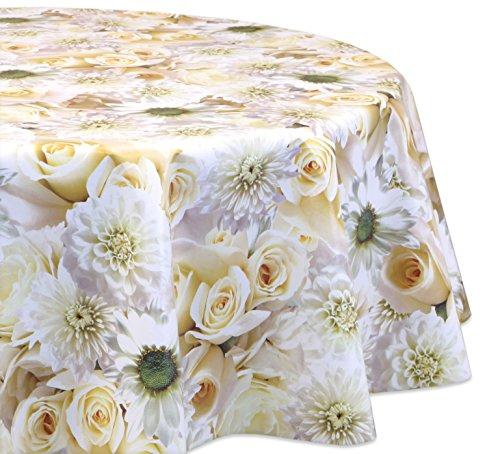 Wachstuchtischdecke OVAL RUND ECKIG Motiv u. Größe wählbar, Tischdecke Wachstuch abwischbar (Eckig 140x260 cm Blumengarten)