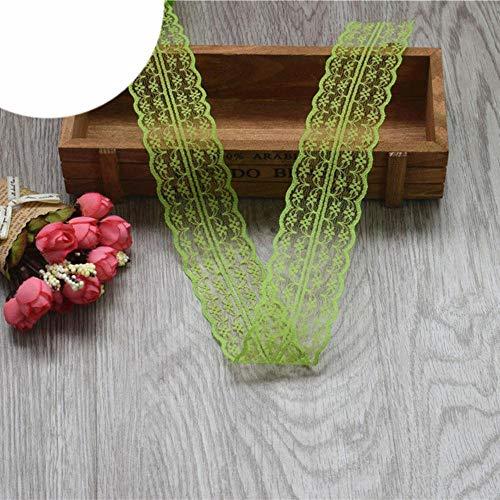 Nieuw!10 meter mooi kantlint, 4,5 cm breed, DIY kleding/accessoires/bloemenaccessoires, enz, Olijfgroen, 5 meter