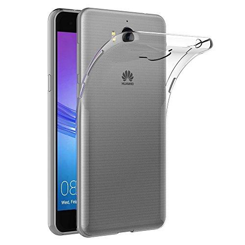 AICEK Huawei Y6 2017 Hülle, Transparent Silikon Schutzhülle für Y6 2017 Case Crystal Clear Durchsichtige TPU Bumper Huawei Y6 2017 Handyhülle