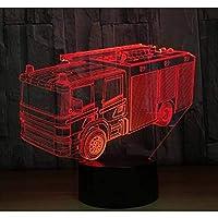 3D LED錯視ランプ スクールバスは家の装飾として多彩なアクリルをつけますUSBケーブルが付いている子供の学生のギフトをつけます