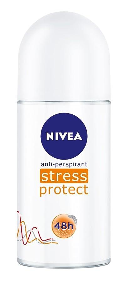 ファシズムグッゲンハイム美術館感情のNivea Stress Protect Anti-perspirant Deodorant Roll On for Women 50ml - ニベア応力プロテクト制汗剤デオドラントロールオン女性のための50ml