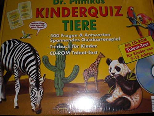 Kinderquiz Tiere - Dr. Pfiffikus: Quizkartenspiel mit 500 Fragen und Antworten, Tierbuch,  CD-ROM Talent-Test für Kinder von 7 - 12 Jahren