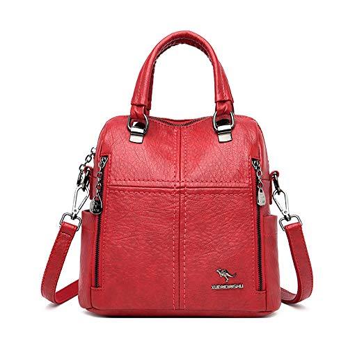 Modische Schultasche robuste Laptoptasche Leder Luxus Handtaschen Damen Taschen Designer Multifunktions-Umhängetaschen F