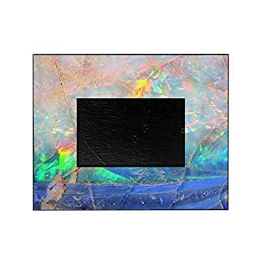 CafePress - Opal Gemstone Iridescent Mineral Bli - Decorative 8x10 Picture Frame