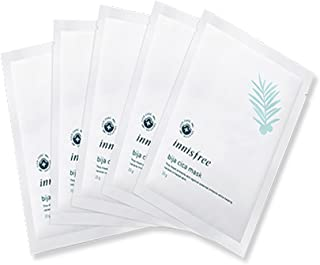 Innisfree Bija Cica Mask Set 20g5pcs An ultra-tight mask sheet set that is effective for skin calming and skin care
