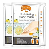 SWEET CARROT Mascarilla de pies de cuidado intensivo en calcetines - Cuidado hidratante para pies suaves y sedosos - 6 pares de calcetines desechables
