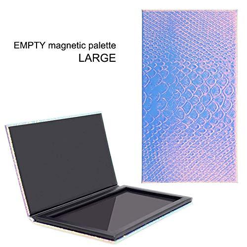 Lege Magnetische Palet, Lege Oogschaduw Make-up Doos Magnetische Cosmetica Palet Oogschaduw Visschaal DIY Opbergbak Houder 18.3 * 10.3 * 1.3cm Groot