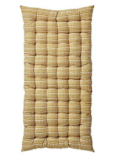 Vertbaudet Boden-Matratze, Baumwolle, senf, Einheitsgröße