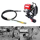 Meiney 4.8HP 4-Stroke Concrete Vibrator Single Cylinder 42.7 CC OHV Backpack Vibrator Portable Insertion Vibrator Air Bubbles Level Remover Construction Tool for Construction Sites